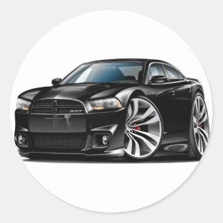 Dodge Charger SRT8 Black Car Round Sticker