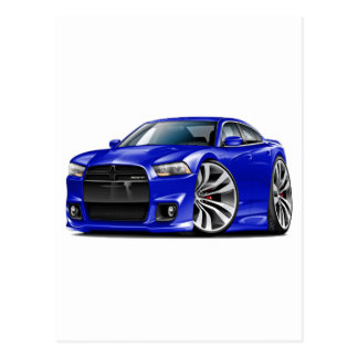 Dodge Charger SRT8 Blue Car Post Cards