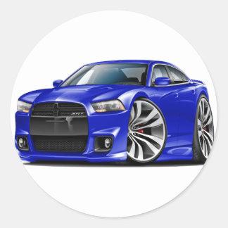Dodge Charger SRT8 Blue Car Round Sticker