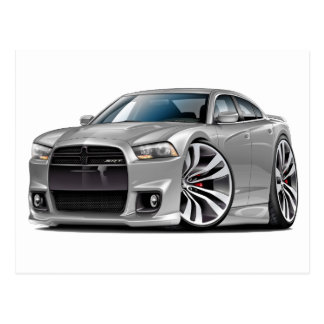 Dodge Charger SRT8 Silver Car Postcard