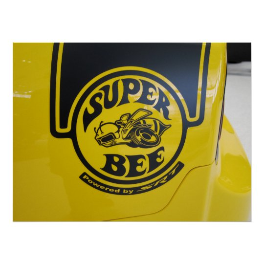 Dodge Charger SRT Super Bee Emblem Poster
