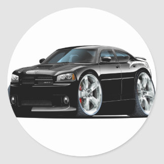 Dodge Charger Super Bee Black Car Classic Round Sticker