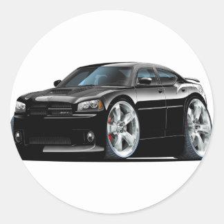 Dodge Charger Super Bee Black Car Round Sticker