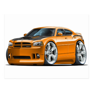 Dodge Charger Super Bee Orange Car Postcard