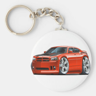 Dodge Charger Super Bee Red Car Keychain