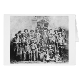 Dodge City Cow-Boy Band with Instruments Card