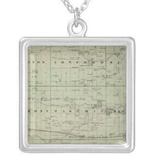 Dodge County, Minnesota Silver Plated Necklace