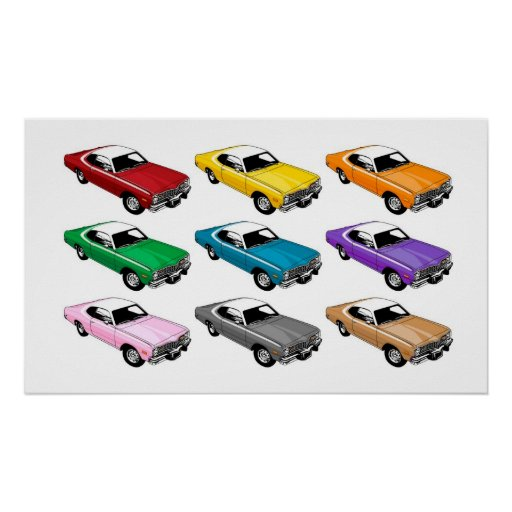 Dodge Dart Colours Poster