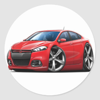 Dodge Dart Red-Black Grill Car Classic Round Sticker