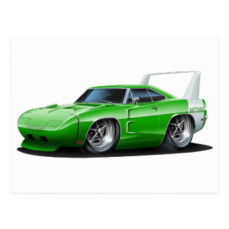 Dodge Daytona Green Car Postcard