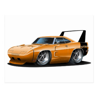 Dodge Daytona Orange Car Postcard
