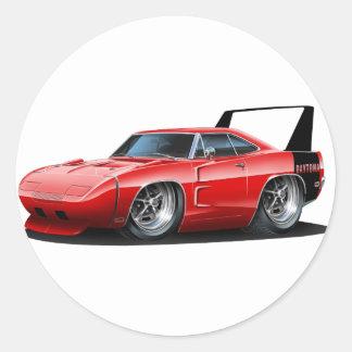 Dodge Daytona Red Car Classic Round Sticker