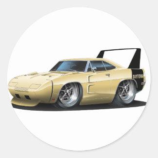 Dodge Daytona Tan Car Round Sticker