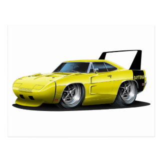 Dodge Daytona Yellow Car Postcard