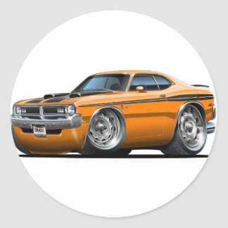 Dodge Demon Orange Car Classic Round Sticker