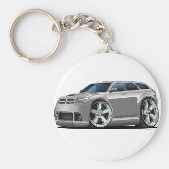 Dodge Magnum Silver Car Basic Round Button Key Ring