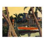 Dodge Motor Speed Boat Jungle Edward Wilson Postcards