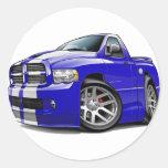 Dodge SRT10 Ram Blue-White Truck Round Sticker