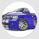 Dodge SRT10 Ram Blue-White Truck Classic Round Sticker