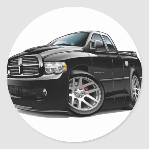 Dodge SRT10 Ram Dualcab Black Classic Round Sticker