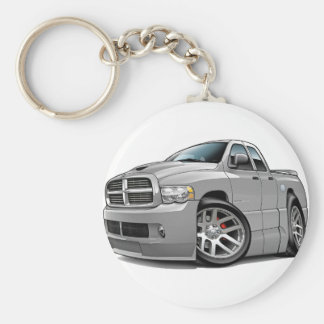 Dodge SRT10 Ram Dualcab Grey Basic Round Button Key Ring