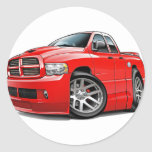 Dodge SRT10 Ram Dualcab Red Classic Round Sticker