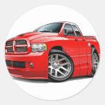Dodge SRT10 Ram Dualcab Red Round Sticker