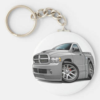 Dodge SRT10 Ram Grey Basic Round Button Key Ring