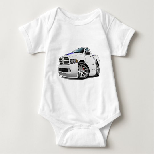 Dodge SRT10 Ram White Baby Bodysuit