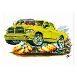 Dodge SRT10 Yellow Extended Cab Truck Post Card
