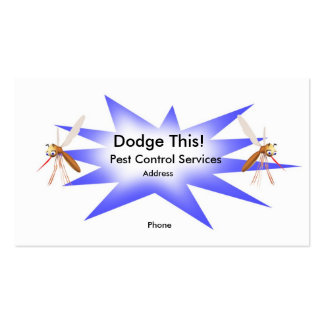 Dodge This! Pest Control Blue - Business Business Card Template