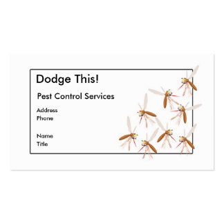 Dodge This! Pest Control - Border - Business Pack Of Standard Business Cards