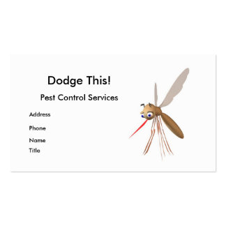 Dodge This! Pest Control - Business Double-Sided Standard Business Cards (Pack Of 100)