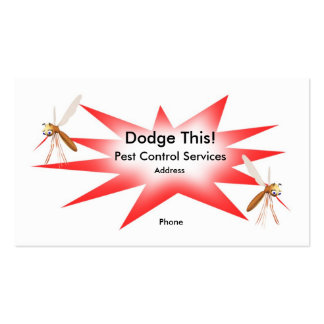 Dodge This! Pest Control Red - Business Double-Sided Standard Business Cards (Pack Of 100)