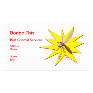 Dodge This! Pest Control Yellow Spark - Business Business Card