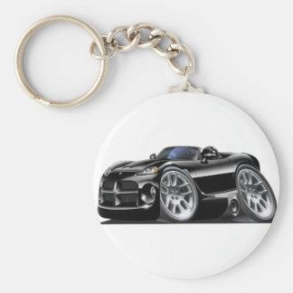 Dodge Viper Roadster Black Car Basic Round Button Key Ring
