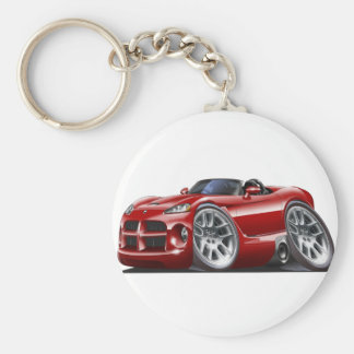 Dodge Viper Roadster Maroon Car Basic Round Button Key Ring