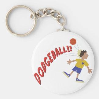 Dodgeball Basic Round Button Key Ring