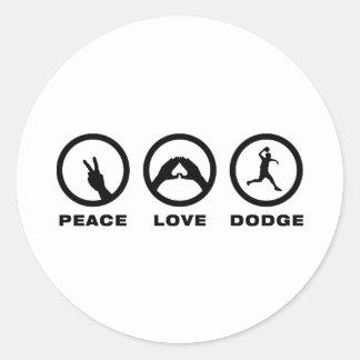 Dodgeball Classic Round Sticker