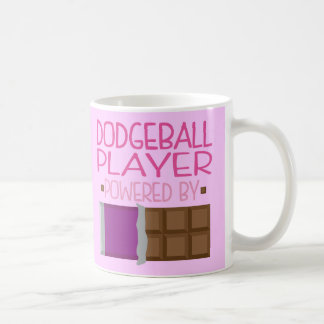 Dodgeball Player chocolate Gift for Her Basic White Mug