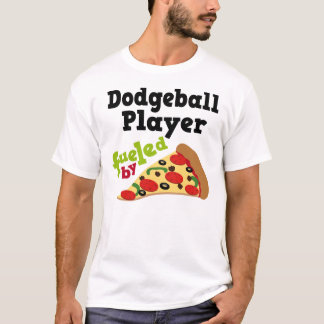Dodgeball Player (Funny) Pizza T Shirt