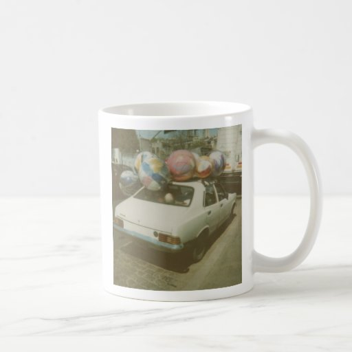 dodgeball polaroid mug