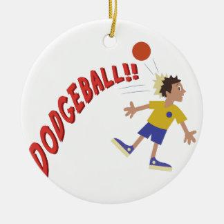 Dodgeball Round Ceramic Decoration