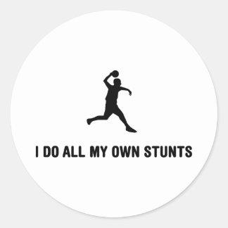 Dodgeball Round Sticker