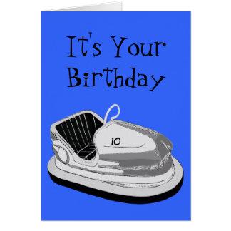 Dodgem Age Birthday Card (Blue)