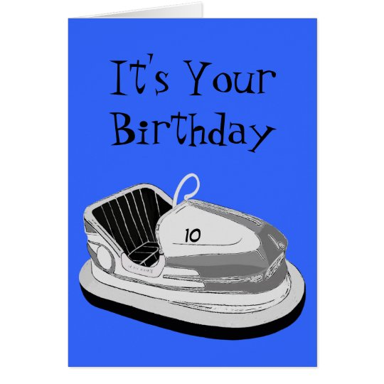 Dodgem Age Birthday Card (Blue)