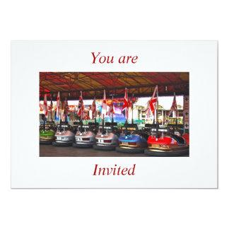 Dodgem Cars You are invited Card 13 Cm X 18 Cm Invitation Card