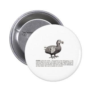 dodo 6 cm round badge