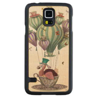 Dodo Balloon with Dragonflies Carved Maple Galaxy S5 Case