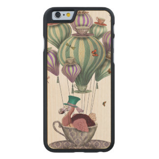 Dodo Balloon with Dragonflies Carved Maple iPhone 6 Case